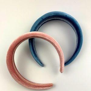 Women's Bundle of Velour Poofy Headbands